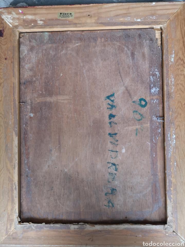 Arte: Escuela catalana, firmado Morencio? Vallvidrera, oleo sobre tabla, enmarcado y con cristal. 40x50cm - Foto 6 - 180013772