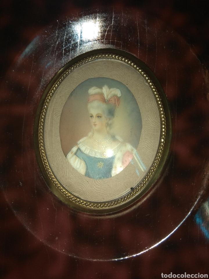Arte: Miniatura Dama Pintura sobre Marfil - Firmado - - Foto 5 - 180036065