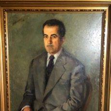 Arte: OLEO/LIENZO FIRMADO Y FECHADO VALDÉS CANET 1950 MEDIDAS 92X73 CON MARCO 106X87. Lote 180081248