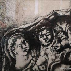 Arte: LAXEIRO. XOSÉ OTERO ABELEDO. (LALIN, 1908 - VIGO, 1996) MATERNIDADE. TINTA SOBRE PAPEL.. Lote 180089896