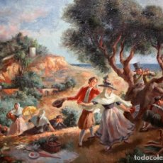 Arte: ALFREDO OPISSO CARDONA (1907- 1980) OLEO SOBRE LIENZO. IBICENCOS. Lote 180098715