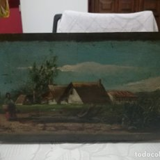 Arte: ANTIGUO ÓLEO SOBRE TABLEX FIRMADA MIREN FOTOS . Lote 180138283