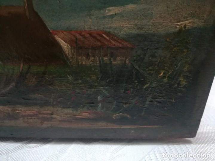 Arte: ANTIGUO ÓLEO SOBRE TABLEX FIRMADA MIREN FOTOS - Foto 11 - 180138283