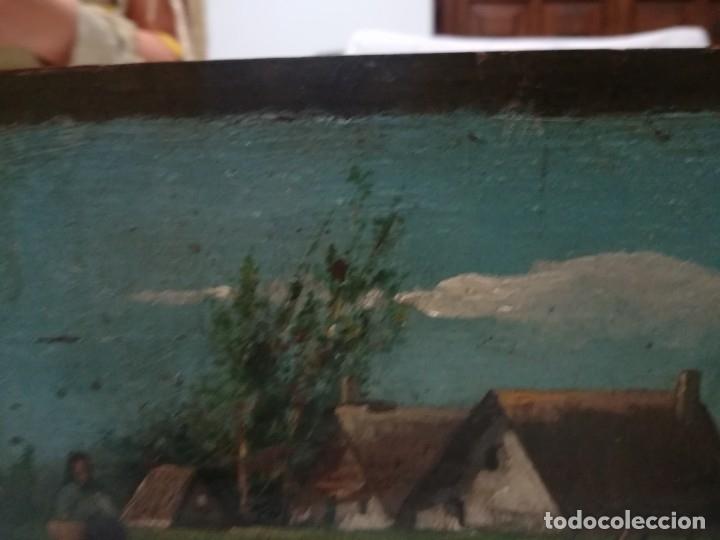 Arte: ANTIGUO ÓLEO SOBRE TABLEX FIRMADA MIREN FOTOS - Foto 18 - 180138283