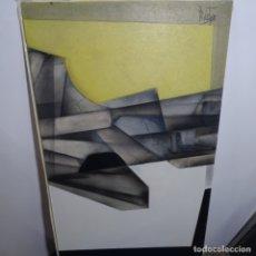 Arte: GRAN ÓLEO SOBRE TABLA FIRMADO ROBERTOS 80.SEGURIDAD EN EL TRAZO.. Lote 180147668