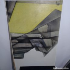 Arte: GRAN ÓLEO SOBRE TABLA FIRMADO ROBERTOS 80.SEGURIDAD EN EL TRAZO.. Lote 180147681