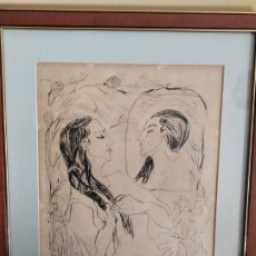 Arte: DIBUJO A TINTA DE GLORIA MORERATERRASA .(ILUSTRACIÓN). Lote 180178661