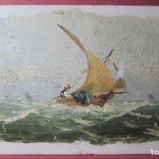Arte: MARINA.OLEO SOBRE OPALINA.SIGLO XIX.8 X 14 CM. Lote 180182742