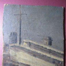 Arte: ESTABLO. OLEO SOBRE CARTÓN. EN EL DORSO INSCRIPCIÓN: PORCAR. JUAN BAUTISTA PORCAR?. 15 X 10 CM. Lote 180183488