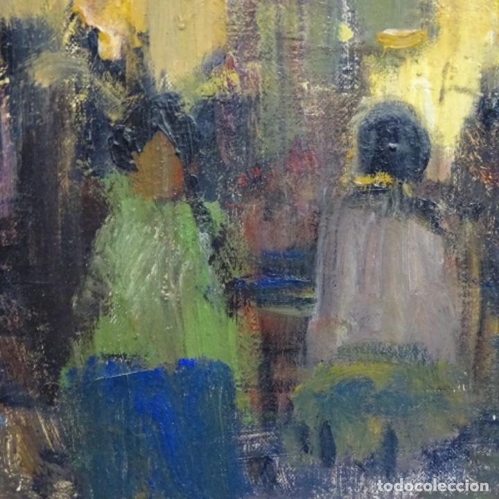 Arte: Gran óleo de Joan Antoni valls i trullas(bcn 1923).sermon en la iglesia. - Foto 9 - 180208380