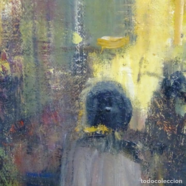 Arte: Gran óleo de Joan Antoni valls i trullas(bcn 1923).sermon en la iglesia. - Foto 10 - 180208380