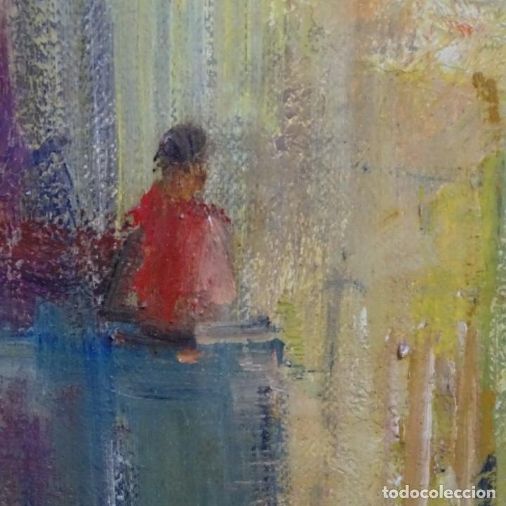 Arte: Gran óleo de Joan Antoni valls i trullas(bcn 1923).sermon en la iglesia. - Foto 11 - 180208380