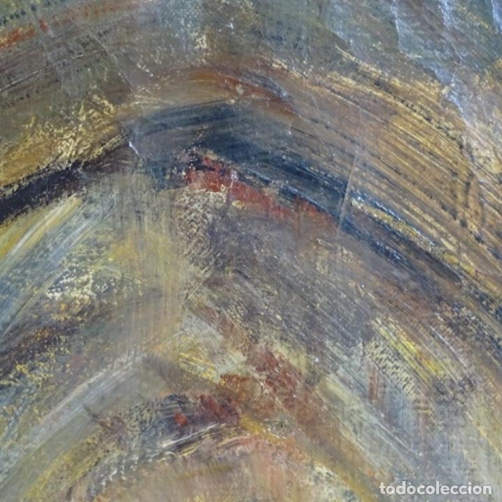 Arte: Gran óleo de Joan Antoni valls i trullas(bcn 1923).sermon en la iglesia. - Foto 12 - 180208380