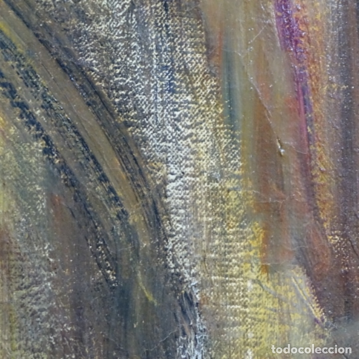 Arte: Gran óleo de Joan Antoni valls i trullas(bcn 1923).sermon en la iglesia. - Foto 13 - 180208380