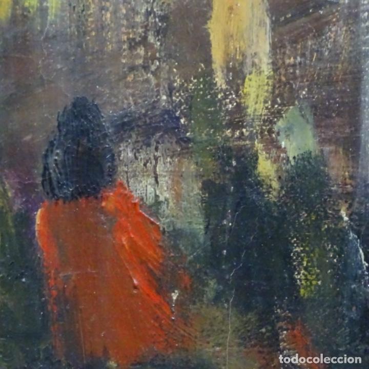 Arte: Gran óleo de Joan Antoni valls i trullas(bcn 1923).sermon en la iglesia. - Foto 14 - 180208380