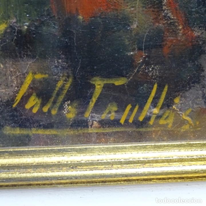 Arte: Gran óleo de Joan Antoni valls i trullas(bcn 1923).sermon en la iglesia. - Foto 15 - 180208380