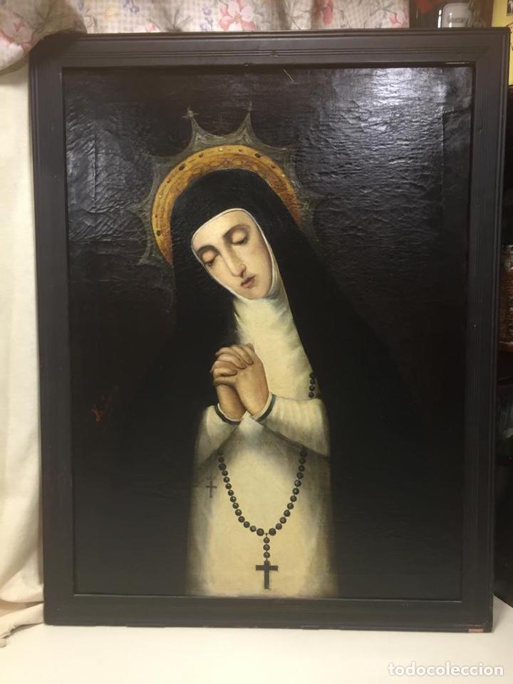 Arte: Oleo Virgen de la Paloma/Soledad. Firmado - Foto 2 - 180251465