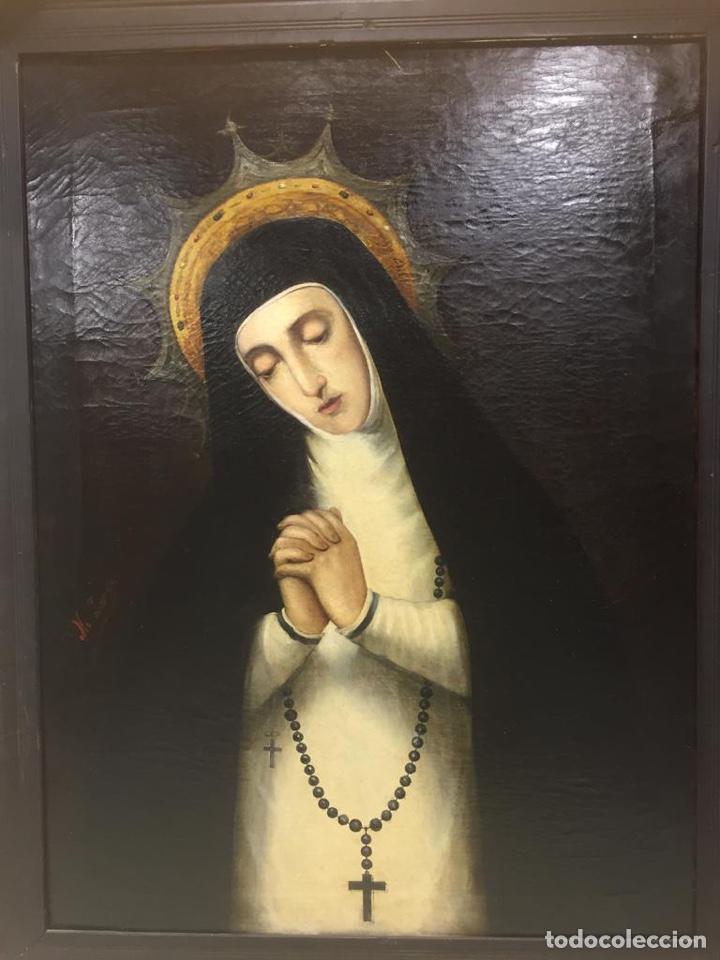 Arte: Oleo Virgen de la Paloma/Soledad. Firmado - Foto 3 - 180251465