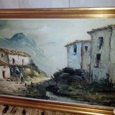 Arte: CUADRO OLEO SOBRE LIENZO,FIRMADO,88X48 CM. Lote 180254530