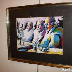 Arte: PINTURA PERSONAJES, DEL CONOCIDO PINTOR Y PRESENTADOR DE TELEVISION TONI ROVIRA. Lote 180266917