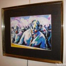 Arte: PINTURA PERSONAJES, DEL CONOCIDO PINTOR Y PRESENTADOR DE TELEVISION TONI ROVIRA. Lote 180267413