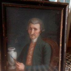 Arte: ANTIGUA PINTURA , RETRATO DE CERAMISTA , FIRMADO 1807 , EN MARCO DE EPOCA. Lote 180275468