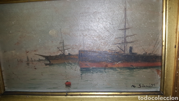 Arte: Vendo cuadro antiguo, de 1895 pintor m.simo. - Foto 2 - 180289050