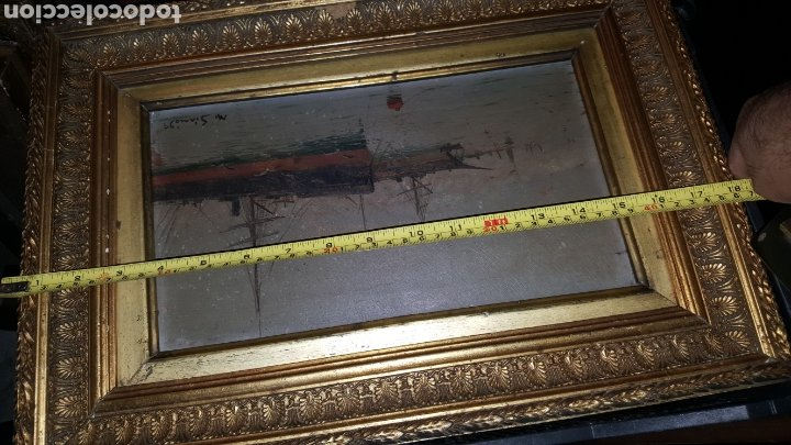 Arte: Vendo cuadro antiguo, de 1895 pintor m.simo. - Foto 7 - 180289050
