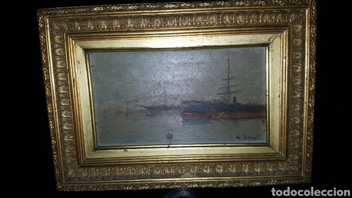 VENDO CUADRO ANTIGUO, DE 1895 PINTOR M.SIMO. (Arte - Pintura - Pintura al Óleo Antigua siglo XVIII)