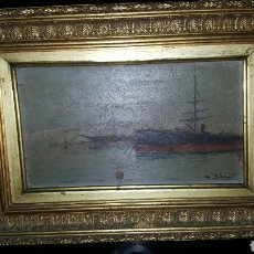 Arte: VENDO CUADRO ANTIGUO, DE 1895 PINTOR M.SIMO.. Lote 180289050