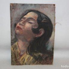 Arte: ANONIMO. OLEO SOBRE TELA. RETRATO FEMENINO. Lote 180330558