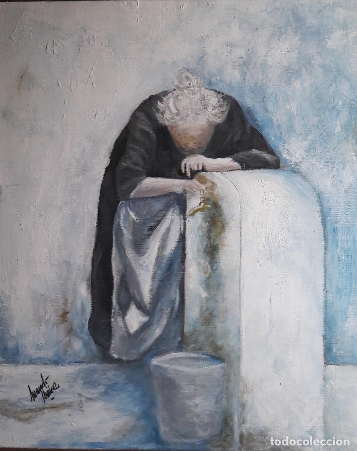 AGUADORA. ACRILICO SOBRE LIENZO 55 X 46 CM. MANOLO IBÁÑEZ (Arte - Pintura Directa del Autor)