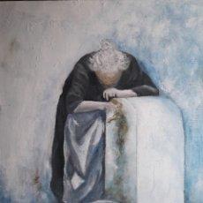 Arte: AGUADORA. ACRILICO SOBRE LIENZO 55 X 46 CM. MANOLO IBÁÑEZ. Lote 180457286