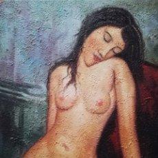 Arte: MUJER SENTADA DESNUDA DE MODIGLIANI. Lote 180457648