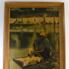 Arte: A-282. OLEO SOBRE LIENZO,PONCE. FIRMADO M.CUYAS. 1899. . Lote 180467826