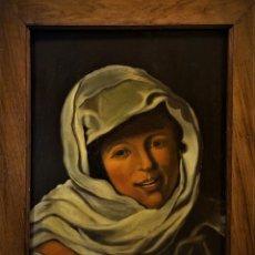 Arte: CABEZA DE MUCHACHO, TABLA ENGATILLADA. . Lote 180481113