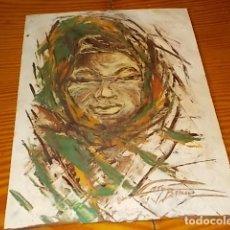 Arte: IMPRESIONANTE ÓLEO DE UNA MUJER DE LA ARTISTA CATY BARCELÓ . 22 X 30 CM. MALLORCA . UNA JOYA!!!!. Lote 180513187