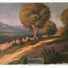Arte: INTERESANTE OLEO SOBRE LIENZO - ESCUELA OLOTINA-PAISAJE PRINCIPIOS DEL S.XX. . Lote 180796937
