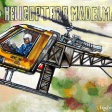 Arte: CUADRO SERIE JUGUETES MADELMAN ILUSTRACIÓN CAJA HELICOPTERO ÓLEO SOBRE TABLA 60 X 40 CMS. Lote 180857987