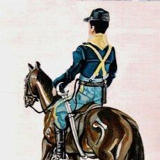 Arte: CUADRO SERIE JUGUETES GEYPERMAN 7º CABALLERIA CON CABALLO ÓLEO SOBRE TABLA 40 X 60 CMS. Lote 180858905