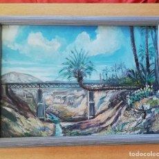 Arte: ANTIGUO CUADRO, PINTURA ÓLEO PAISAJE DE ELCHE. Lote 180865086