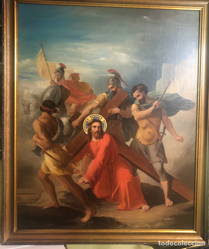 ISIDORO GARNELO FILLOL ÓLEO/LIENZO FIRMADO ISIDORO GARNELO ROMA92 MEDIDAS 100X81 (Arte - Pintura - Pintura al Óleo Antigua sin fecha definida)