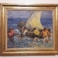 Arte: OLEO LIENZO MARINA, FRANCISCO RODRIGUEZ SANCHEZ CLEMENT(ELCHE 1893 - SANTA POLA 1968) ALICANTE. . Lote 180932931