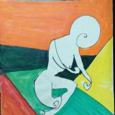 Arte: DIBUJO SOBRE CARTULINA - 64,5 X 50 - SANTY 1990. Lote 180935368