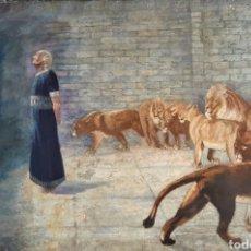 Arte: . ÓLEO FIRMADO DE 91 X 61 CM. TEMA CRISTIANO.. Lote 180941171