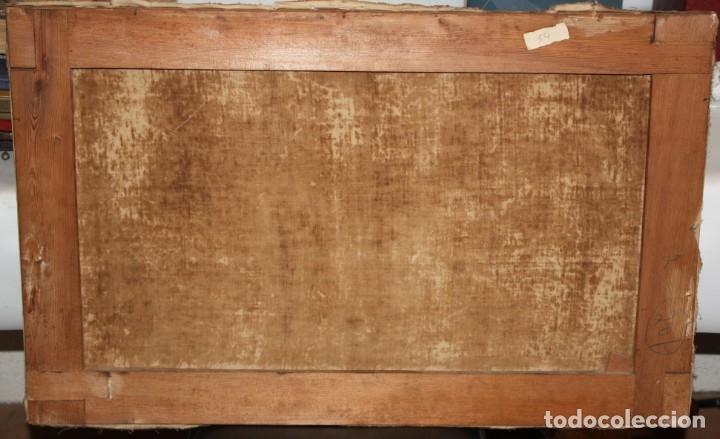 Arte: ESCUELA ESPAÑOLA DEL SIGLO XVIII. OLEO SOBRE TELA. LA HUIDA A EGIPTO - Foto 7 - 180948337