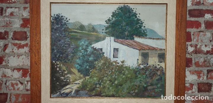 Arte: Óleo sobre lienzo firmado Reina - Foto 8 - 180951237