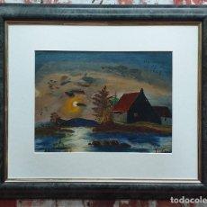 Arte: P. FONT ÓLEO SOBRE TABLA. Lote 180960523