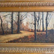 Arte: MANUEL RAMOS ARTAL , MADRID 1855. ÓLEO SOBRE TABLA DE 1891 , S. XIX , PAISAJE. Lote 180960612