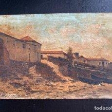 Arte: MANUEL RAMOS ARTAL , MADRID 1855. ÓLEO SOBRE TABLA DE 1894 , S. XIX , PAISAJE. Lote 180960756
